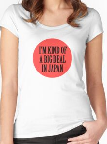 Big in Japan China Funny Cool Music Rock Pop Women's Fitted Scoop T-Shirt