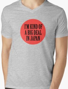 Big in Japan China Funny Cool Music Rock Pop Mens V-Neck T-Shirt