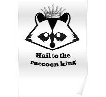 Raccoon king! Poster