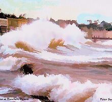 High Seas at Dawlish, Devon by Peter Sandilands