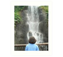 Waterfall Girl Art Print