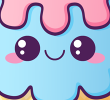 Kawaii Ice-Cream Sticker