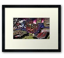 MY GRAFFITI ROOM Framed Print