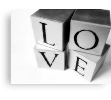 Love Blocks. Canvas Print