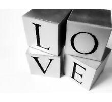 Love Blocks. Photographic Print