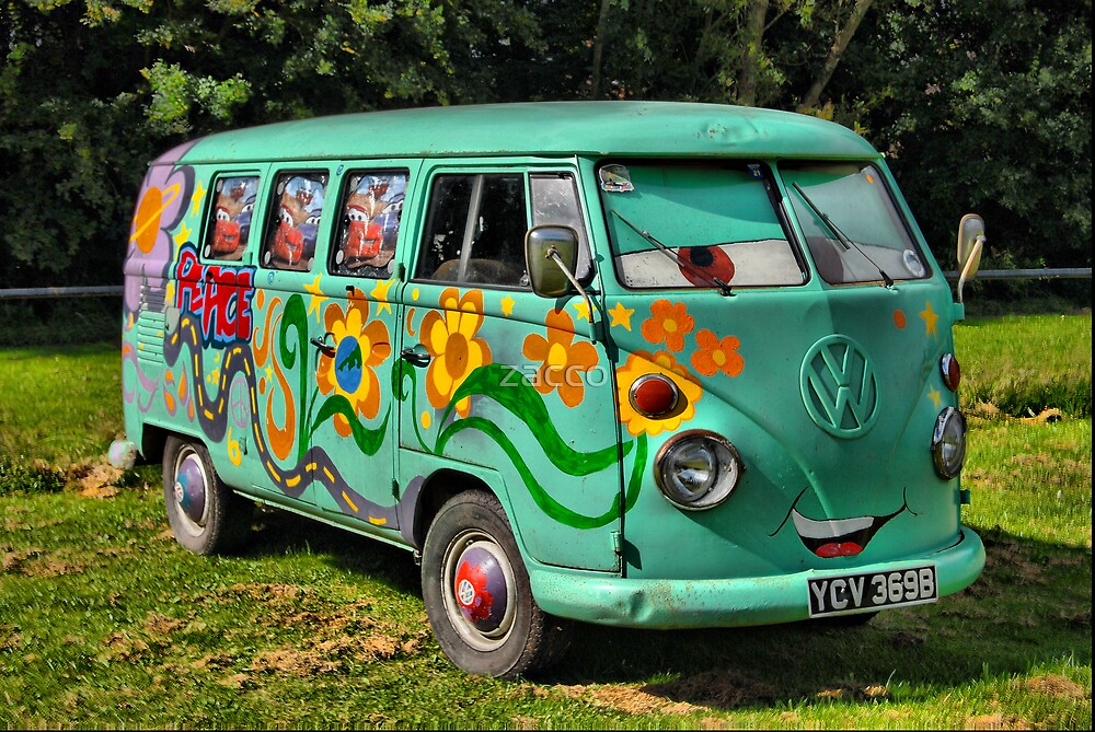 VW car's bus at caldicot vw fest 08 by zacco