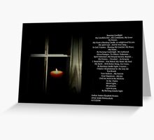 By Burning Candle Light ... Greeting Card