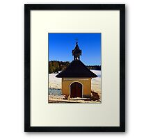 Chapel in winter scenery | architectural photography Framed Print