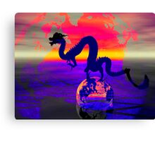 Shadow Dragon Canvas Print