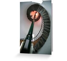inside south stack lighthouse-anglesey Greeting Card