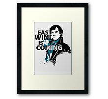 East Wind is coming Framed Print
