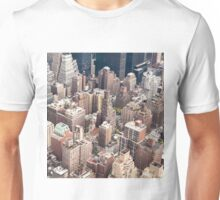 Aerial view of NY Unisex T-Shirt