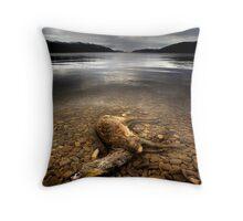 Surface Interruption-Loch Ness Throw Pillow