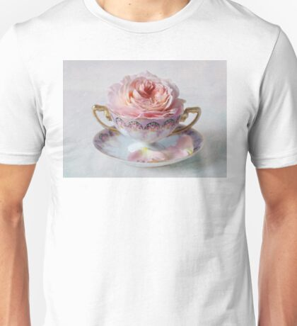 Roses in a Tea Cup Unisex T-Shirt