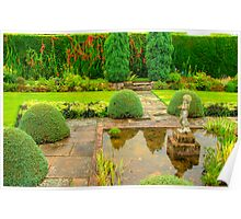 Arley Hall Sunken Garden Poster