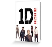 One Direction Greeting Card