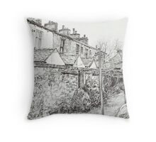 Down the Alleyway Throw Pillow