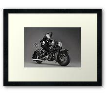 Biker Bugs Bunny Framed Print