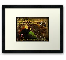 Who's That Trip-trapping Over My Bridge? Framed Print