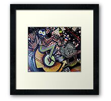 Blue Plate Special Framed Print