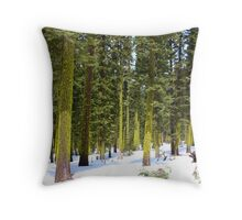 Mt. Lassen undergrowth  Throw Pillow