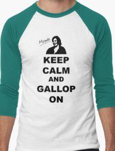 Keep Calm and Gallop On - Miranda Hart [Unofficial] Men's Baseball ¾ T-Shirt