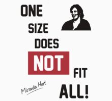 One Size Does NOT Fit All - Miranda Hart [Unofficial] Kids Tee