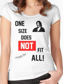 One Size Does NOT Fit All - Miranda Hart [Unofficial] Women's Fitted Scoop T-Shirt