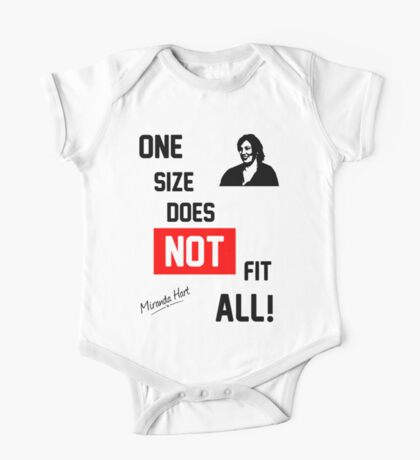 One Size Does NOT Fit All - Miranda Hart [Unofficial] One Piece - Short Sleeve