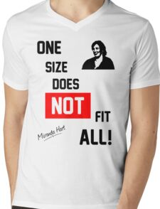 One Size Does NOT Fit All - Miranda Hart [Unofficial] Mens V-Neck T-Shirt