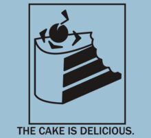 The cake is delicious. Kids Clothes
