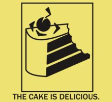 The cake is delicious. Kids Tee
