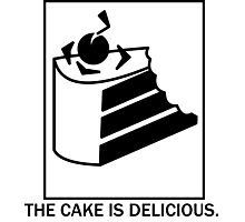 The cake is delicious. Photographic Print