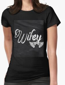 rustic Valentine's Day chalkboard scripts honeymoon bride wifey T-Shirt