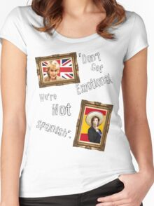 Don't Get Emotional, We're Not Spanish - Miranda Hart [Unofficial] Women's Fitted Scoop T-Shirt