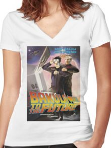 Bakula to the Future Women's Fitted V-Neck T-Shirt