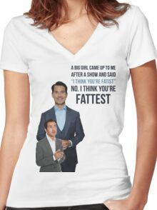 Jimmy Carr - Fatist Joke Women's Fitted V-Neck T-Shirt