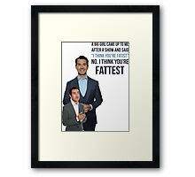 Jimmy Carr - Fatist Joke Framed Print