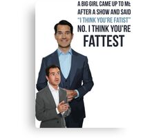 Jimmy Carr - Fatist Joke Canvas Print