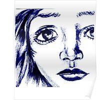 ANime girl face Poster