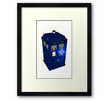 TARDIS Illustrated- Galactic Blue Framed Print