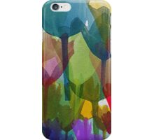 Tulip Flowers, Stems - Blue Red Green Yellow iPhone Case/Skin