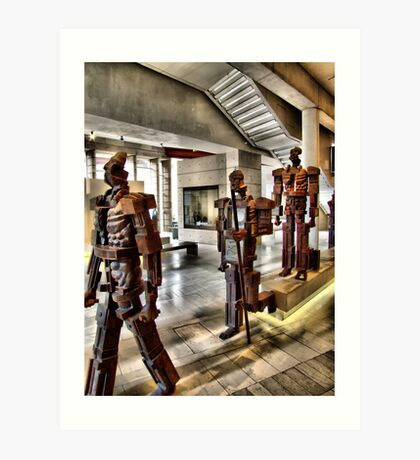 Wooden Men Art Print