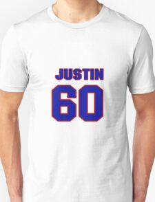 National Hockey player Justin Peters jersey 60 T-Shirt