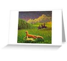 Pictish hunting scene Greeting Card