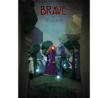 Low Poly Brave Photographic Print