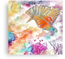 Colored bird Canvas Print