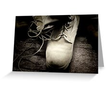 Boots on the Ground Greeting Card