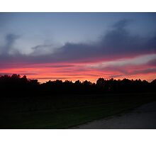 Sunset In A Small Town Photographic Print