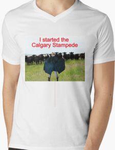 T- I Started The Calgary Stampede Mens V-Neck T-Shirt